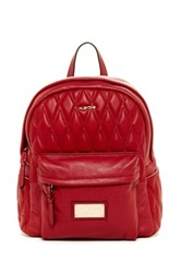 Valentino By Mario Valentino Quilted Diego Genuine Leather Backpack Red