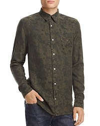 Hudson Weston Camouflage Regular Fit Snap Front Shirt Incognito Green Camo