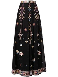 Michel Klein Bohemian Long Skirt Black
