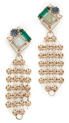 Lulu Frost Cite Earrings Gold Multi