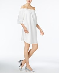 Rachel Roy Smocked Off The Shoulder Dress Only At Macy's White