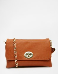 Marc B Yaz Triple Compartment Small Cross Body Bag Tan