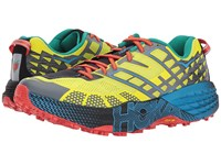 Hoka One One Speedgoat 2 Citrus Dresden Blue Running Shoes Yellow