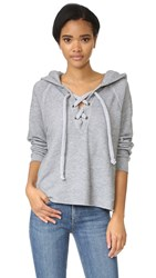 Wildfox Couture Hutton Lace Up Sweater Heather Burnout