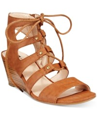 White Mountain Gillis Lace Up Wedge Sandals Women's Shoes