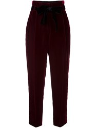 Philosophy Di Lorenzo Serafini Bow Detail High Waisted Trousers Red