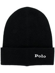 Polo Ralph Lauren Cashmere Logo Embroidery Beanie Black