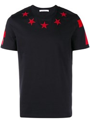 Givenchy Star Patch T Shirt Red