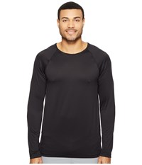 Onzie Raglan Long Sleeve Top Black Men's Long Sleeve Pullover