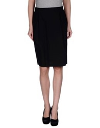 Blue Les Copains Knee Length Skirts Black