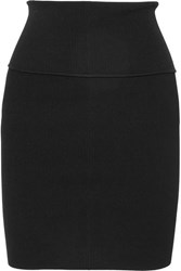 Helmut Lang Ribbed Knit Mini Skirt Black