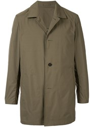 Kent And Curwen Packable Mac Coat Green