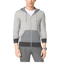 Michael Kors Color Block Cotton Hoodie Heather Grey