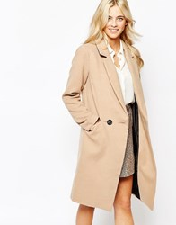 Oasis Double Breasted Car Coat Beige