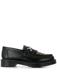 Dr. Martens Leopard Toe Loafers White