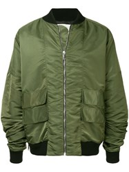 Strateas Carlucci Orchis Bomber Jacket Green