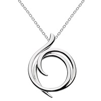 Kit Heath Sterling Silver Cubic Zirconia Helix Wrap Necklace Silver