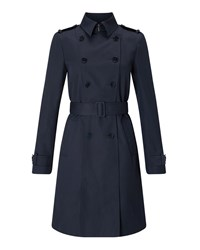 Jigsaw Trench Coat Blue