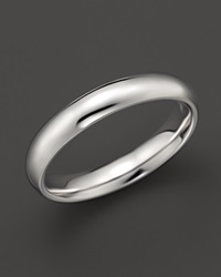 Bloomingdale's Men's 14K White Gold Comfort Feel Plain Wedding Band