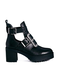 Asos Ransom Leather Ankle Boots Black