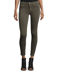 Hudson Nico Mid Rise Super Skinny Jeans Trooper Green Green Pattern