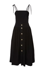 Rejina Pyo The Issy Front Button Strap Dress Black