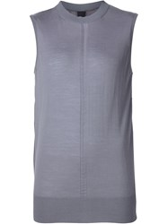Vera Wang Contrast Panel Sleeveless Jumper Pink And Purple
