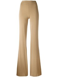 Plein Sud Jeans Flared Trousers Nude Neutrals
