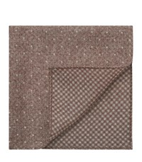 Reiss Julian Double Sided Pocket Square In Taupe