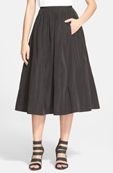 Tracy Reese 'Dolce Vita' Satin A Line Skirt Black