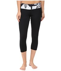 Hot Chillys Mtf Flex Sublimated Print Capris Black Live Wire Women's Capri