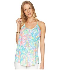Lilly Pulitzer Lacy Tank Top Multi Surf Gypsea Sleeveless