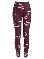 The Upside Crane Nyc Leggings Burgundy Multi