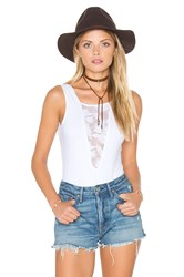 Nightcap Sleeveless Lace Inset Bodysuit White