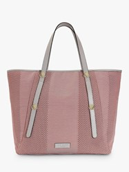 Ted Baker Octomon Woven Tote Bag Mid Pink