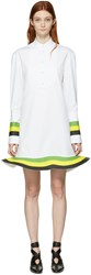 J.W.Anderson White Orbit Hem Tuxedo Dress
