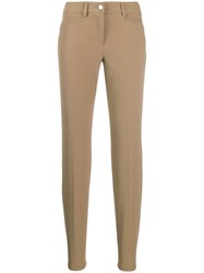 Cambio Cropped Slim Fit Trousers Neutrals