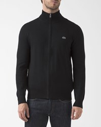 Lacoste Black Zip Up Cardigan