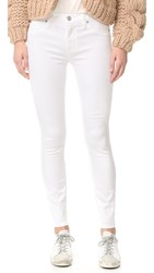 Hudson Nico Mid Rise Super Skinny Ankle Jeans White