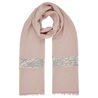 Jacques Vert Sequin Border Scarf Neutral