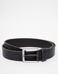 Esprit Leather Belt With Logo Stud Black