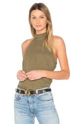 Bella Dahl Button Back Halter Army
