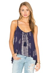 Band Of Gypsies Scoop Neck Tank Blue