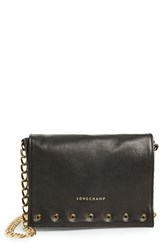 Longchamp 'Small Paris Rocks' Leather Crossbody Bag Black