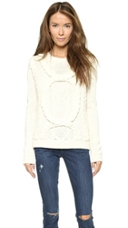 Elevenparis Cable Sweater Off White