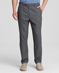 Jack Spade Fairview Regular Fit Windowpane Trousers Charcoal