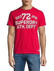 Superdry Trackster Printed Cotton Tee Indiana Red