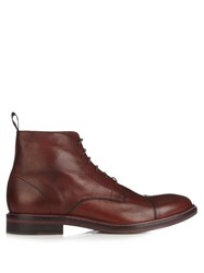 Paul Smith Jarman Lace Up Leather Boots Burgundy