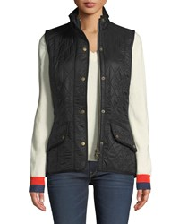 Barbour Diamond Quilted Cavalry Gilet Black
