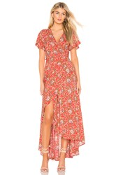 Auguste X Revolve Ophelia Muse Wrap Maxi Dress Red